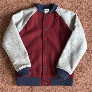 Almost New Boys Bomber/Varsity Jacket, Large 10/12